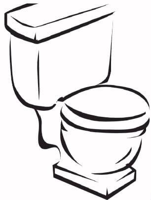 Toilette à faible consommation d'eau
